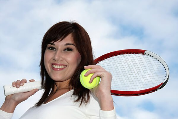 IMAGE - Lady tennis player