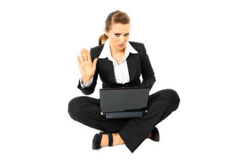 IMAGE - Woman sitting cross legged