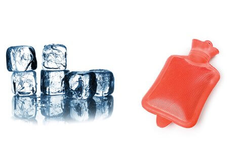 IMAGE - Ice cubes & hot water bottle