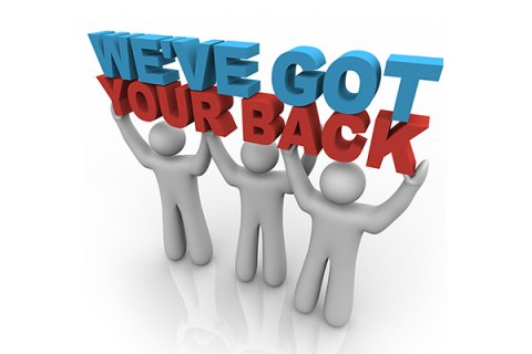 IMAGE - We've got your back cartoon