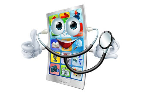 IMAGE - Cartoon health phone