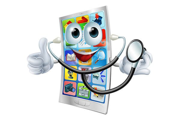 IMAGE - Cartoon health phone