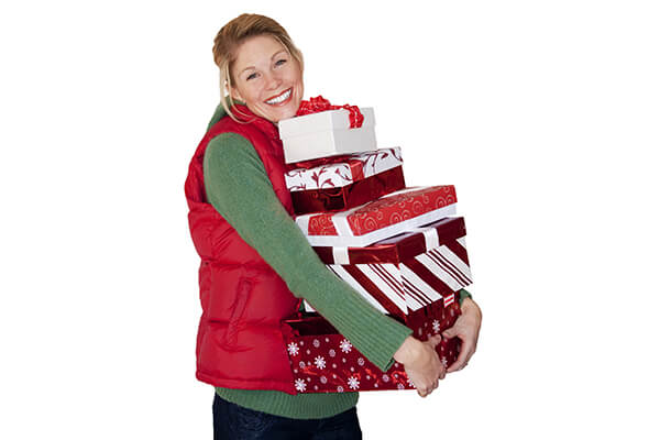IMAGE - Woman with Christmas shopping