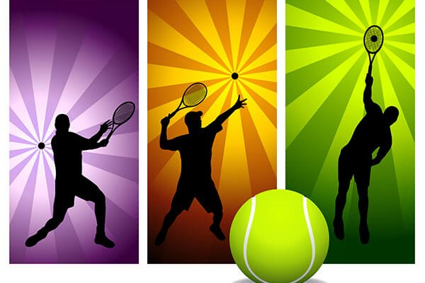 IMAGE - Playing tennis