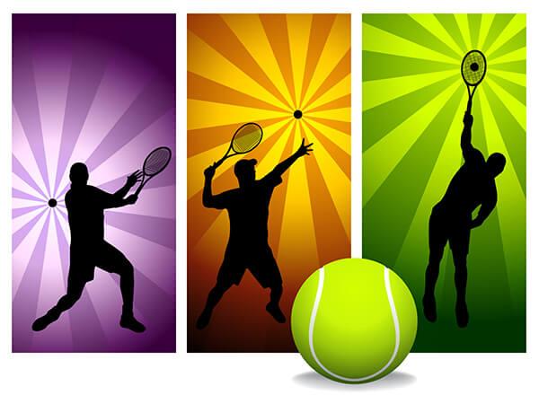 IMAGE - Playing tennis