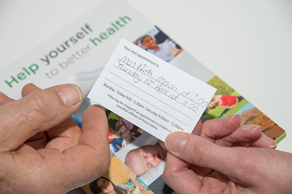 IMAGE - Future appointment card