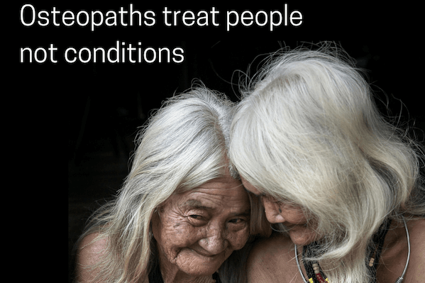 IMAGE - Osteopaths treat older people